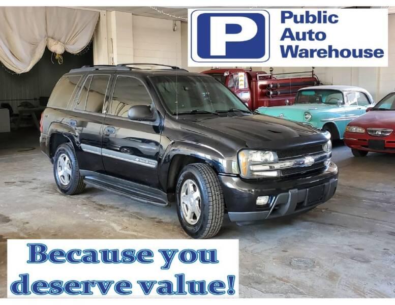 2002 Chevrolet TrailBlazer for sale at Public Auto Warehouse in Pekin IL