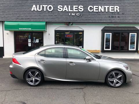 2018 Lexus IS 300 for sale at Auto Sales Center Inc in Holyoke MA