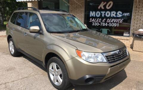 2009 Subaru Forester for sale at K O Motors in Akron OH