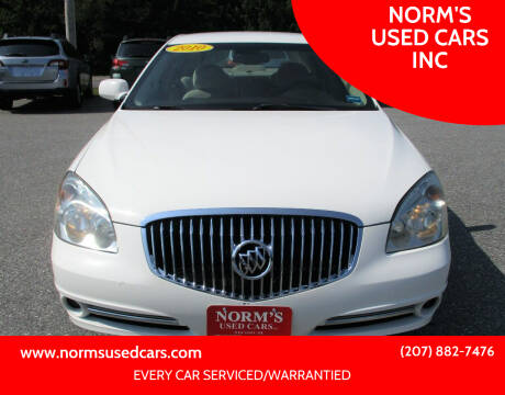 2010 Buick Lucerne for sale at NORM'S USED CARS INC in Wiscasset ME