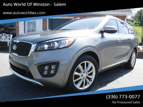 2016 Kia Sorento for sale at Auto World Of Winston - Salem in Winston Salem NC