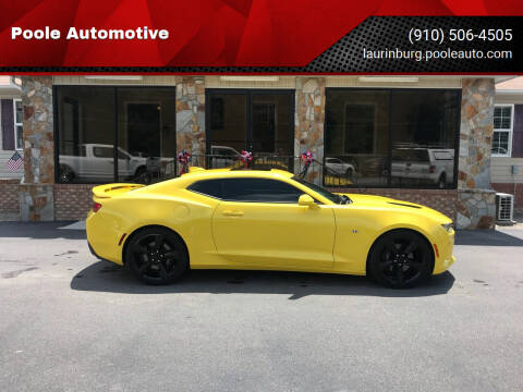 2017 Chevrolet Camaro for sale at Poole Automotive in Laurinburg NC