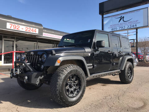 2014 Jeep Wrangler Unlimited for sale at NORRIS AUTO SALES in Oklahoma City OK