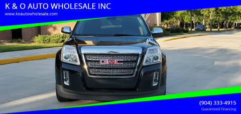 2013 GMC Terrain for sale at K & O AUTO WHOLESALE INC in Jacksonville FL