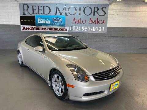 2005 Infiniti G35 for sale at REED MOTORS LLC in Phoenix AZ