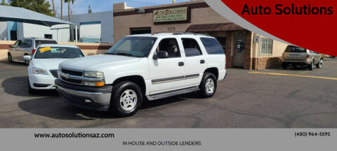 2005 Chevrolet Tahoe for sale at Auto Solutions in Mesa AZ