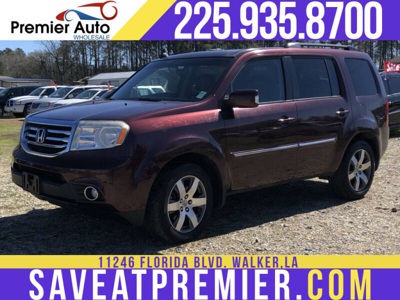 2013 Honda Pilot for sale at Premier Auto Wholesale in Baton Rouge LA
