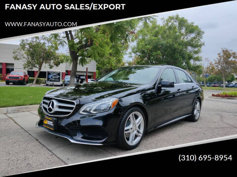 2014 Mercedes-Benz E-Class for sale at FANASY AUTO SALES/EXPORT in Yorba Linda CA