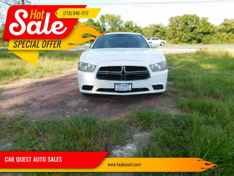 2014 Dodge Charger for sale at CAR QUEST AUTO SALES in Houston TX