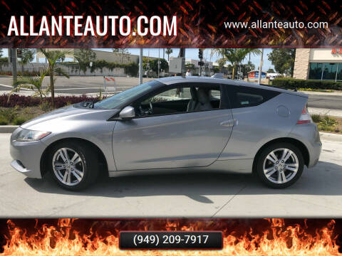 2011 Honda CR-Z for sale at AllanteAuto.com in Santa Ana CA