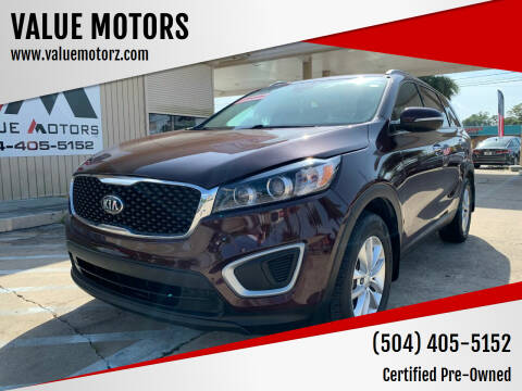 2017 Kia Sorento for sale at VALUE MOTORS in Kenner LA