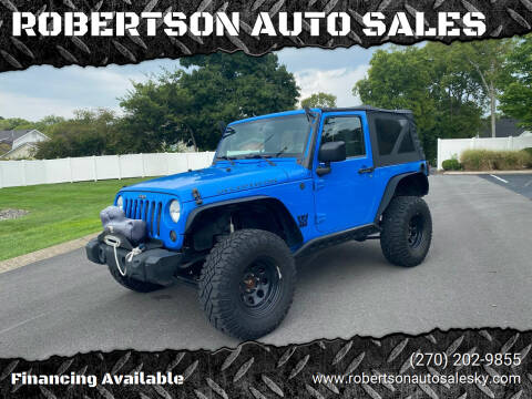 2012 Jeep Wrangler for sale at ROBERTSON AUTO SALES in Bowling Green KY