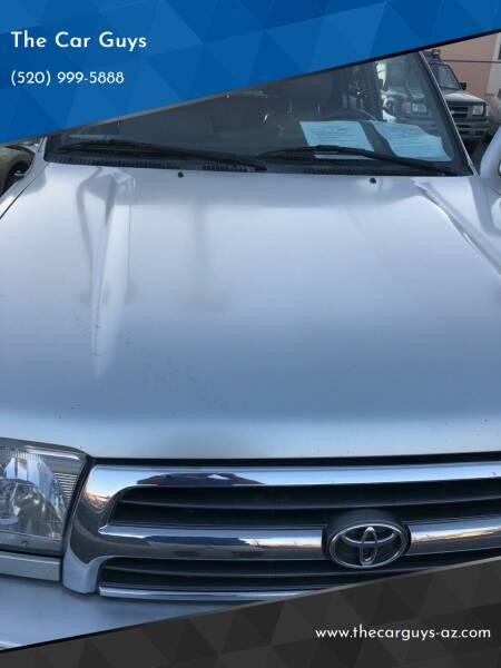 2000 Toyota 4Runner for sale at The Car Guys in Tucson AZ