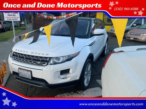 2013 Land Rover Range Rover Evoque for sale at Once and Done Motorsports in Chico CA