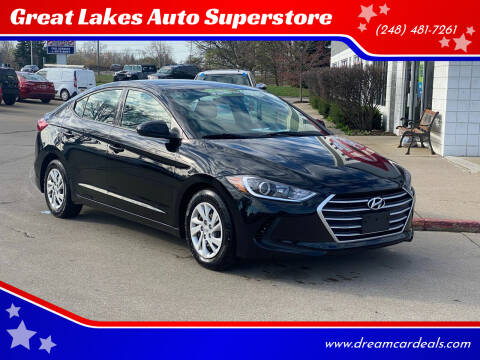 2017 Hyundai Elantra for sale at Great Lakes Auto Superstore in Pontiac MI