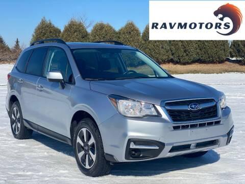 2018 Subaru Forester for sale at RAVMOTORS in Burnsville MN