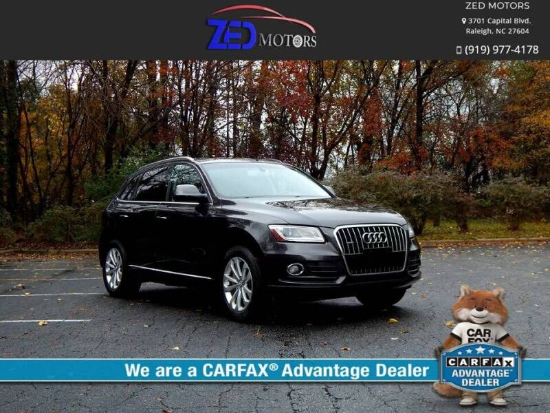 2015 Audi Q5 for sale at Zed Motors in Raleigh NC