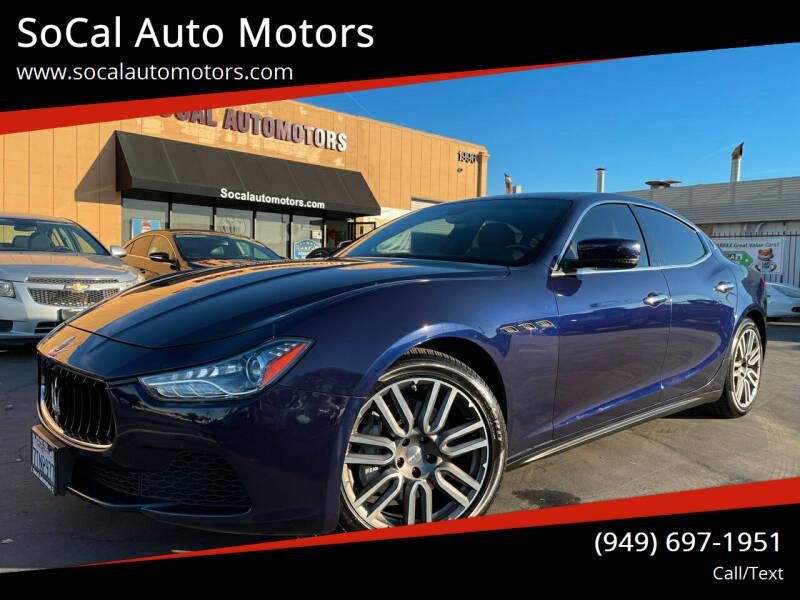 2016 Maserati Ghibli for sale at SoCal Auto Motors in Costa Mesa CA