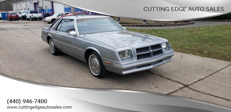 1982 Chrysler Cordoba for sale at Cutting Edge Auto Sales in Willoughby OH