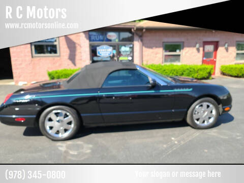 2002 Ford Thunderbird for sale at R C Motors in Lunenburg MA