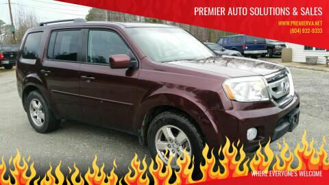 2011 Honda Pilot for sale at Premier Auto Solutions & Sales in Quinton VA
