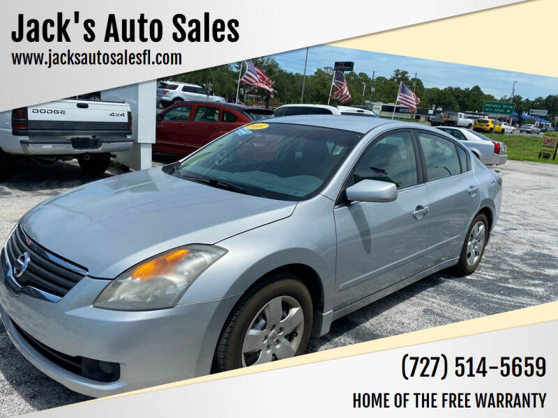 2008 Nissan Altima for sale at Jack's Auto Sales in Port Richey FL