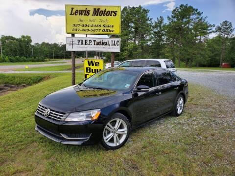 2014 Volkswagen Passat for sale at Lewis Motors LLC in Deridder LA