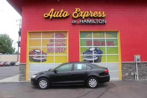 2012 Volkswagen Jetta for sale at AUTO EXPRESS OF HAMILTON LLC in Hamilton OH