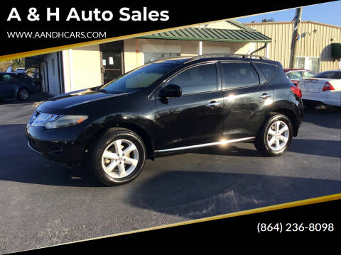 2010 Nissan Murano for sale at A & H Auto Sales in Greenville SC