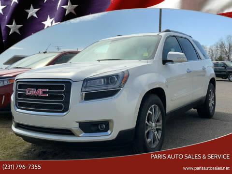 2015 GMC Acadia for sale at Paris Auto Sales & Service in Big Rapids MI