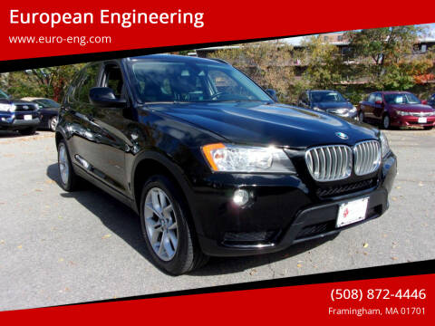2013 BMW X3 for sale at European Engineering in Framingham MA