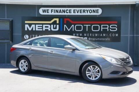 2013 Hyundai Sonata for sale at Meru Motors in Hollywood FL