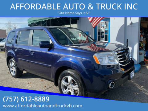 2014 Honda Pilot for sale at AFFORDABLE AUTO & TRUCK INC in Virginia Beach VA