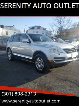 2004 Volkswagen Touareg for sale at SERENITY AUTO OUTLET in Frederick MD
