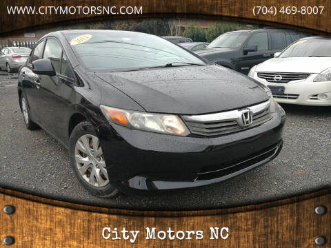 2012 Honda Civic for sale at City Motors NC in Charlotte NC