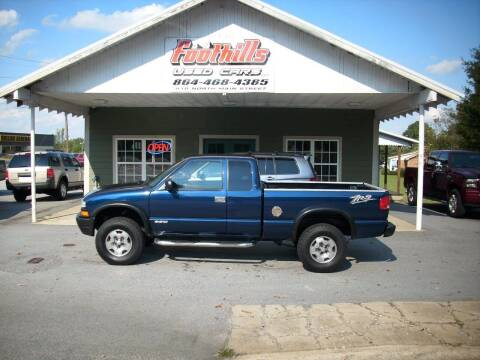 2003 Chevrolet S-10 for sale at Foothills Used Cars LLC in Campobello SC
