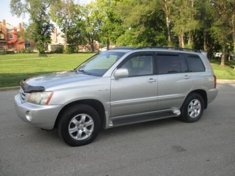 2003 Toyota Highlander for sale at RENNSPORT Kansas City in Kansas City MO