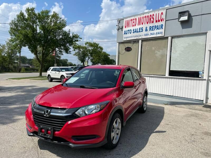 2016 Honda HR-V for sale at United Motors LLC in Saint Francis WI