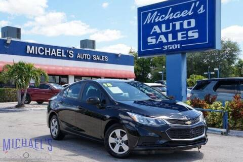 2018 Chevrolet Cruze for sale at Michael's Auto Sales Corp in Hollywood FL