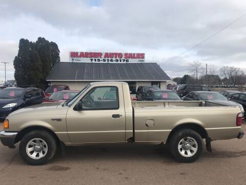 2002 Ford Ranger for sale at BLAESER AUTO LLC in Chippewa Falls WI