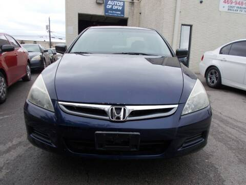 2006 Honda Accord for sale at ACH AutoHaus in Dallas TX