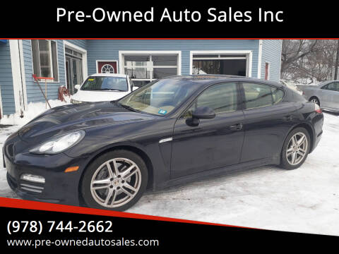 2012 Porsche Panamera for sale at Pre-Owned Auto Sales Inc in Salem MA