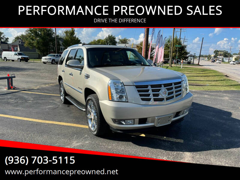 2013 Cadillac Escalade for sale at PERFORMANCE PREOWNED SALES in Conroe TX
