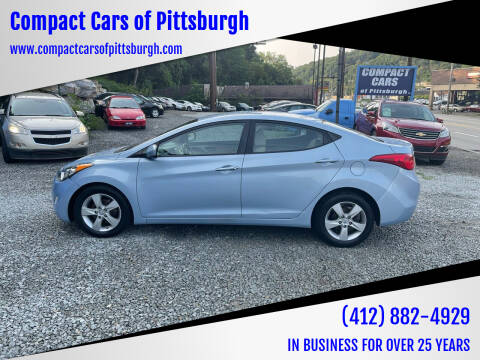 2012 Hyundai Elantra for sale at Compact Cars of Pittsburgh in Pittsburgh PA