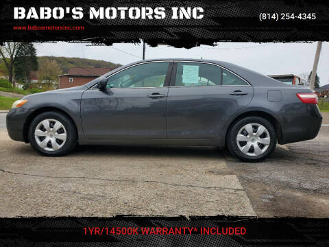 2007 Toyota Camry for sale at BABO'S MOTORS INC in Johnstown PA