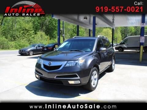 2010 Acura MDX for sale at Inline Auto Sales in Fuquay Varina NC