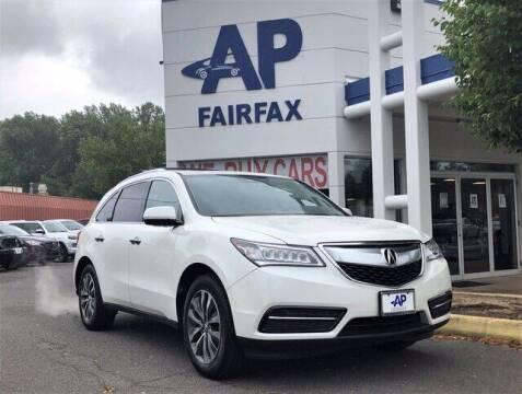 2016 Acura MDX for sale at AP Fairfax in Fairfax VA