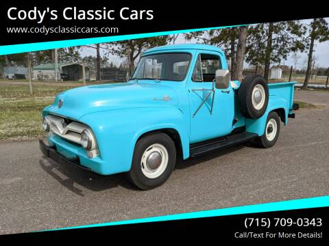 1955 Ford F-250 for sale at Cody's Classic Cars in Stanley WI