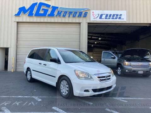 2007 Honda Odyssey for sale at MGI Motors in Sacramento CA