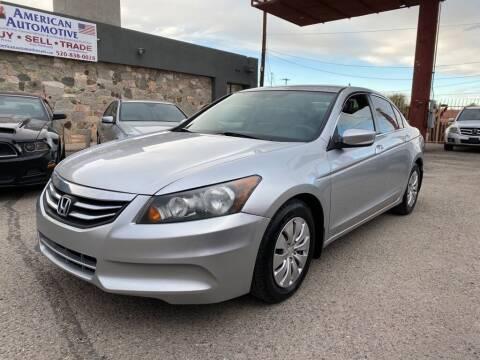 2012 Honda Accord for sale at American Automotive , LLC in Tucson AZ